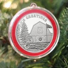 ornament holder 2017 season s greetings farm 1oz 999 silver medallion in