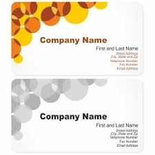business card with bubbles vector freevectors net