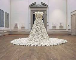 recycle wedding dress rubber wedding gowns a dress made of 1400 rubber gloves