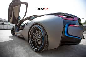 matte bmw i8 vertical doors to the future hybrid bmw i8 with custom wheels