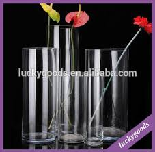 Glass Flower Vases Wholesale Wholesale Transparent Decorative Tall Glass Flower Vases