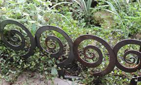 Wrought Iron Garden Decor 5 5 Alternate Spiral Garden Stake Steel Garden Decor