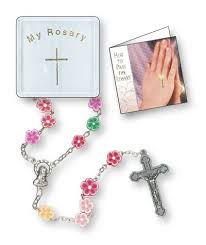 children s rosary childrens rosary multi coloured soft resin book shop
