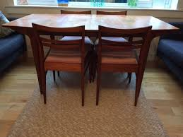 teak dining table and 4 chairs mcintosh dunvegan early 1960s