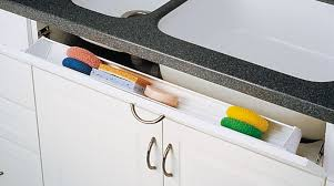 kitchen sink cabinet tray cut to size sink front tip out trays
