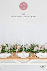 fabric for table runners wedding diy wedding wednesday decor 101 the fabric flower table runner