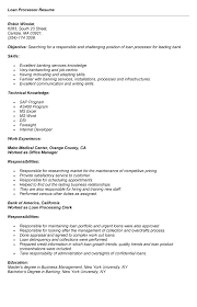 Professional Summary Resume Examples by 11 Mortgage Loan Processor Resume Sample Resume Entry Level Loan