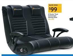 X Rocker Recliner X Rocker Dual Commander Gaming Chair 99 0 At Walmart On Black