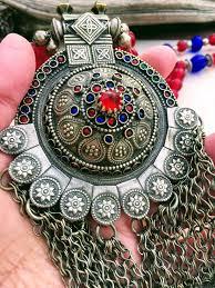 red antique necklace images Vintage kuchi necklace antique afghan necklace nomad silver JPG