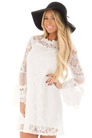 white lace dress white lace dress with sheer bell sleeves lime lush boutique