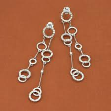 white gold dangle earrings chimento 18k white gold collection diamond dangle earrings