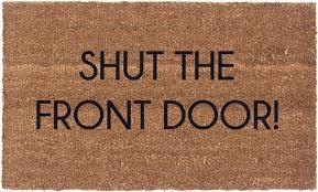 vinyl back doormat shut the front door coir doormat