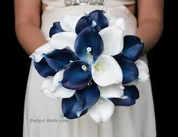Wedding Flowers Blue Navy Blue And White Calla Lily Wedding Flowers Blue Wedding