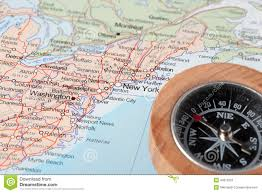 Syracuse New York Map by Travel Destination New York United States Map With Compass Stock