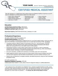 resume templates for medical assistants certified medical assistant resume template shalomhouse us