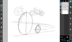 step by step tutorial on how to draw a bike with picsart create