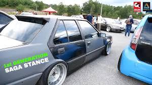 kereta bmw lama proton saga sedan 1st edition simple and nice stance setup koi