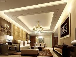 led wooden picture pop with design of living room false ceiling