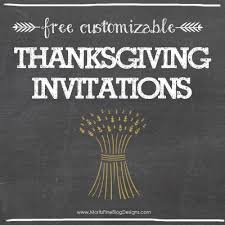 use one of these awesome free thanksgiving dinner invitations to