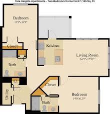 two apartment floor plans tara heights floorplans gateway