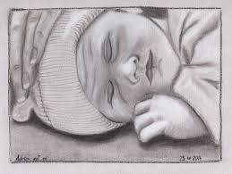 sketch baby adrien asleep contemplations in markup