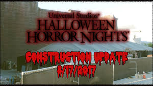 2017 halloween horror nights map halloween horror nights 2017 construction update 3 youtube