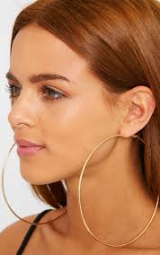 large gold hoop earrings gold large hoop earrings thumbnail 2 earrings