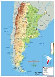 physical map of argentina argentina physical map i maps