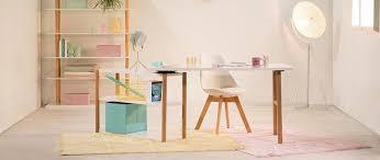 bureau miliboo bureau pivotant design scandinave gilda pas cher blanc et chêne prix
