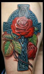 tattoo roses negative space features realistic 3d space