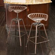 charlie industrial metal design tractor seat bar stool