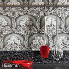 wallpaper for kitchen backsplash ideas for the kitchen wallpaper backsplash family handyman