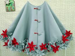 felt tree skirt but would also be an interesting wearable skirt