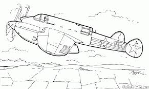 coloring page yak 9r fighter aircraft
