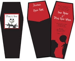 nightmare before christmas wedding invitations nightmare before christmas wedding invite paper crew how to