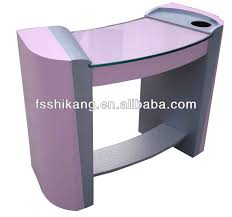 popular pink glass manicure table nail salon furniture buy