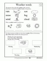 kindergarten writing worksheets days of the week greatschools