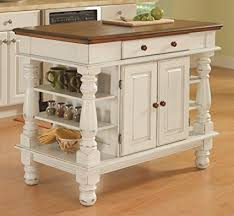 kitchen islands white amazon com home styles 5094 94 americana kitchen island antique