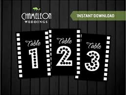 themed table numbers table numbers by chameleon weddings for