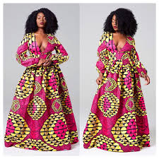rosa african print maxi dress african clothing for women