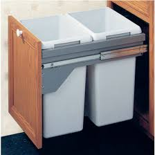 Kitchen Cabinet Trash Can Pull Out Trash Cans Hafele Pull Out Us Cargo 21 Double Waste Bin