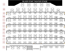 Globe Theatre Floor Plan Seating Chart Silver Star Theater