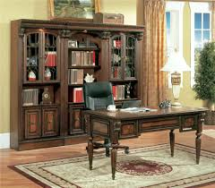 Desk Bookcase Wall Unit Parker House Huntington Library Wall With Peninsula Desk Cpu