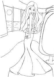 barbie coloring pages free funycoloring