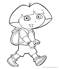 dora coloring pages for toddlers cartoon characters to color dora the explorer color page coloring