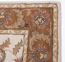 Ivory Area Rug 8x10 Traditional Persian Royal Hand Tufted Wool Area Rug Carpet 5x8