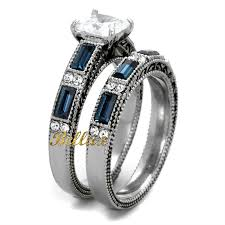 does the woman buy the s wedding band his hers wedding ring sets women s stainless steel vintage ring
