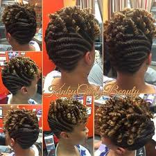 updo transitional natural hairstyles for the african american woman 2015 nice flat twists updo http community blackhairinformation com