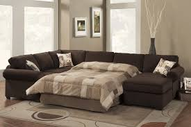 Sectional Sofa With Sleeper And Recliner Whiteather Contemporary Sectional Sofa Sleeper With An Ottoman