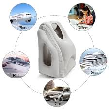 inflatable travel pillow comfortable full support head neck body